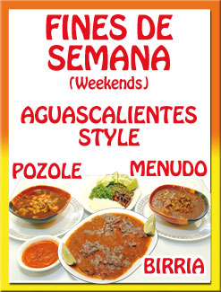Pollo negro mexican restaurant on weekends come and enjoy a bowl of menudo pozole or birria aguacalientes style and dont forget about our on site taqizas forumfinder Gallery